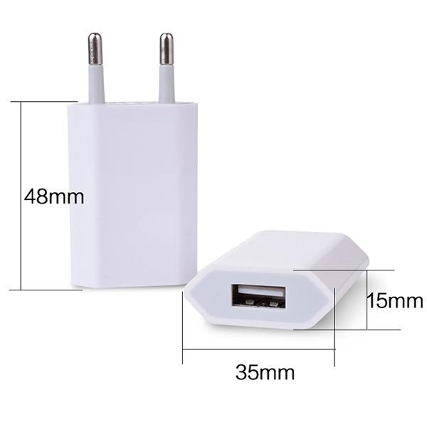 USB nabíječka, síťový adaptér do sítě 220V - univerzální, bílý